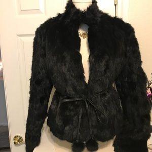 Wilson's Leather Ladies Genuine Rabbit Fur Jacket